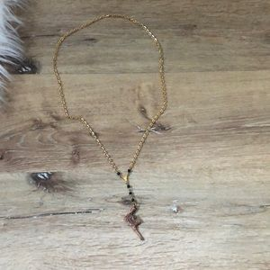 Gold Chain Rosary with Rifle